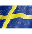 Swedish grunge flag vector