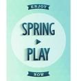 Poster design - spring started vector