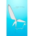 Green energy wind turbines vector
