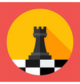 Chess strategy flat circle icon vector