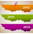 Torn paper banners with space for text 2013 vector
