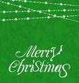 Christmas card merry christmas lettering vector