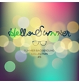 Hello summer summertime blurred background vector