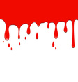 Spilled red color on a white background vector