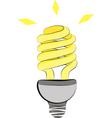 Energy saving light bulb vector