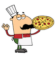 Pizza chef man vector