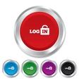 Login sign icon sign in symbol lock vector