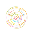 Circle with color rounded lines vector