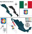 Map of baja california sur vector