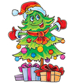 Christmas fir vector