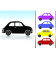 Old car icon set vector