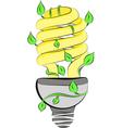 1energy saving light bulb vector