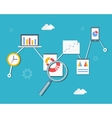 Web statistics and analytics vector