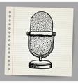 Doodle retro microphone vector