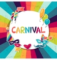 Celebration background with carnival stickers and vector