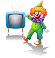 A clown with a television vector