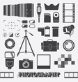 Photography and camera objects vector