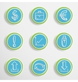Web buttons with drawing icons vector