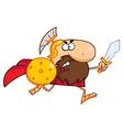 Spartan gladiator knight vector