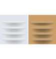 White and beige shelves for your design vector