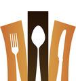 Modern cutlery symbol vector