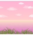 Sea landscape seamless grass and sky vector