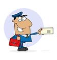 Cartoon mail man vector