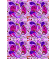 Background with purple and crimson paisley pattern vector