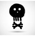 Cartoon doodle pirate skull vector