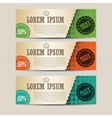 Set of retro horizontal banners with place for vector