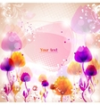 Multicolor flower background with space for text vector
