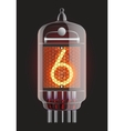 Nixie radio tube vector