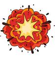Fiery explosion vector