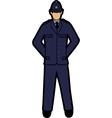 Uk policeman vector