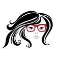 Girl glasses 3 vector