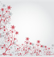 Red grunge flower vector
