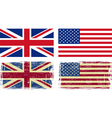 British and american flags vector