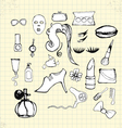 Doodle beauty on paper vector