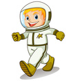 A smiling astronaut vector
