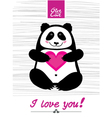 Love you panda vector