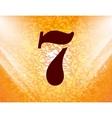 Number seven icon symbol flat modern web design vector