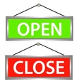 Open and close icons vector
