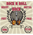 Label in rock music with inscriptions vector