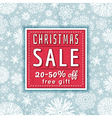 Christmas background and label with sale offeer vector