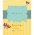 Greeting baby card vector