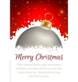 Christmas ball poster card vector