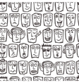 Sketch emoticons seamless pattern vector