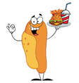 Hot dog mascot cartoon character vector