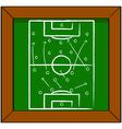 Soccer tactics vector