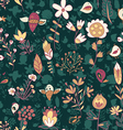 Seamless texture with flowers and birds vector